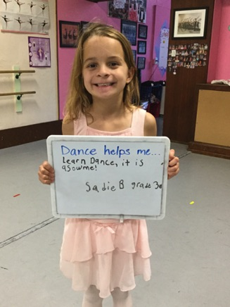 """...learn dance, it is awesome!"" -Sadie"
