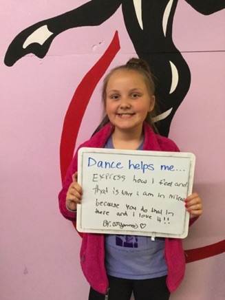 """...express how I feel and that is why I am in lyrical because you do that in there and I love it!!"" -Aryanna"