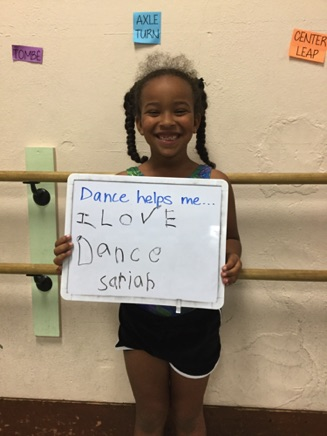 """...I love dance."" -Sariah"