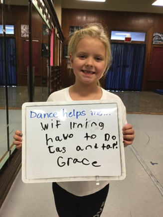 """...with learning how to do jazz and tap!"" -Grace"