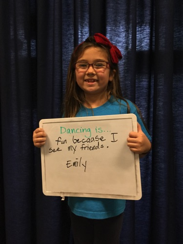 """…fun because I see my friends."" -Emily"