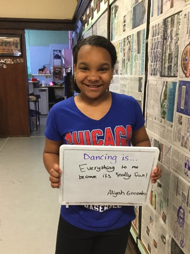 """...everything to me because it's really fun!"" -Aliyah"