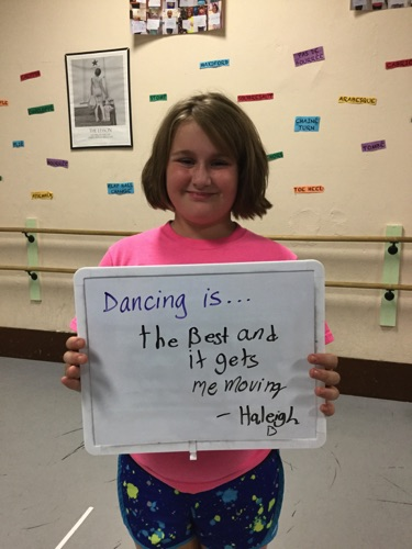 """…the best and it gets me moving."" -Haleigh"