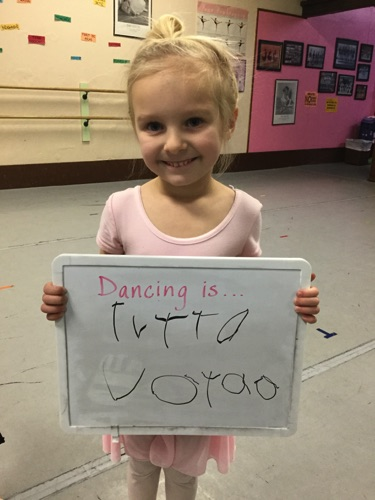 """…fun because I like ballet with all my friends."" -Vayda"