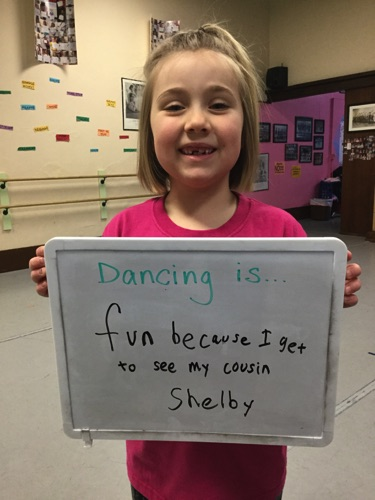"""…fun because I get to see my cousin."" -Shelby"
