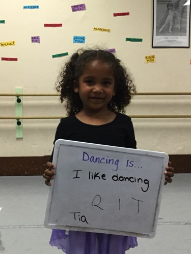 """...I like dancing"" -Tia"