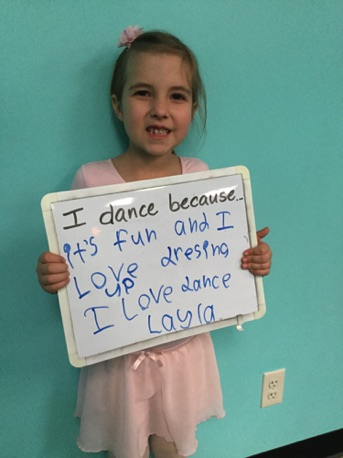"""...it's fun and I love dressing up. I love dance."" -Layla"