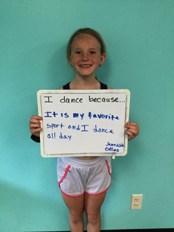 """...it is my favorite sport and I dance all day."" -Janessa"