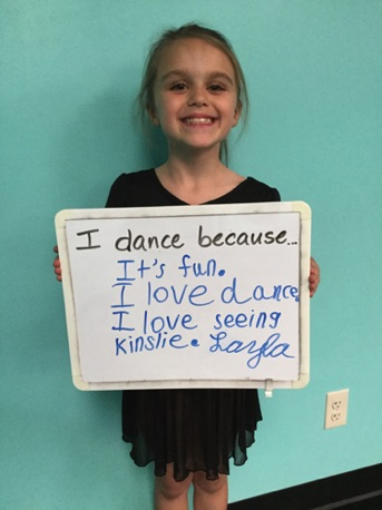 """...it's fun. I love dance. I love seeing Kinslie."" -Layla"