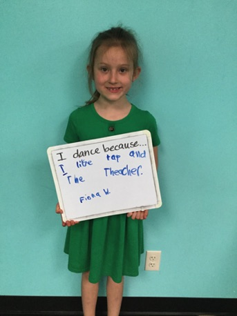 """...I like tap and the teacher."" -Fiona"