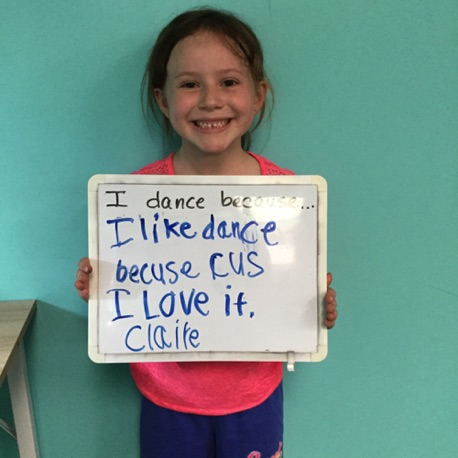 """...I like dance because I love it."" -Claire"