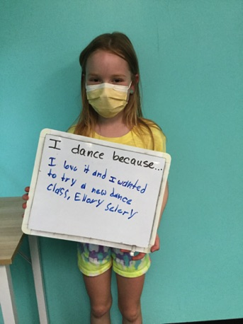 """...I love it and I wanted to try a new dance class."" -Ellory (Celery)"